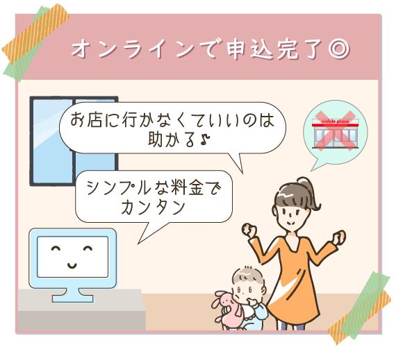 格安SIMの申し込みはオンラインで完了できるのでお店に行かずに済む