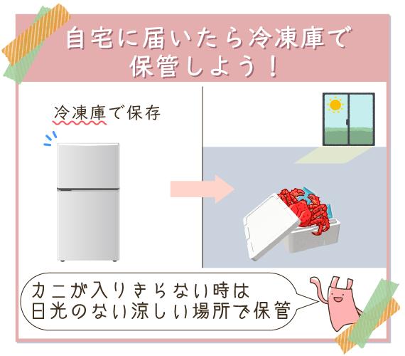 自宅に届いたらすぐに冷凍庫で保管するのがベター