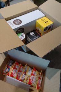 ネスレ冬じたくキャンペーン商品到着写真の箱開封後