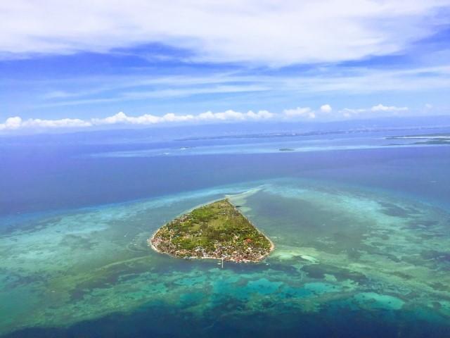 セブ島の無人島の航空写真