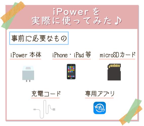 iPowerを使うために事前に必要なもの